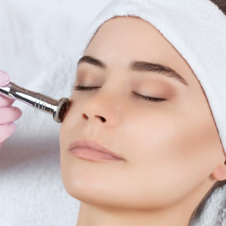 microdermabrasion crystals used to remove dead skin cells